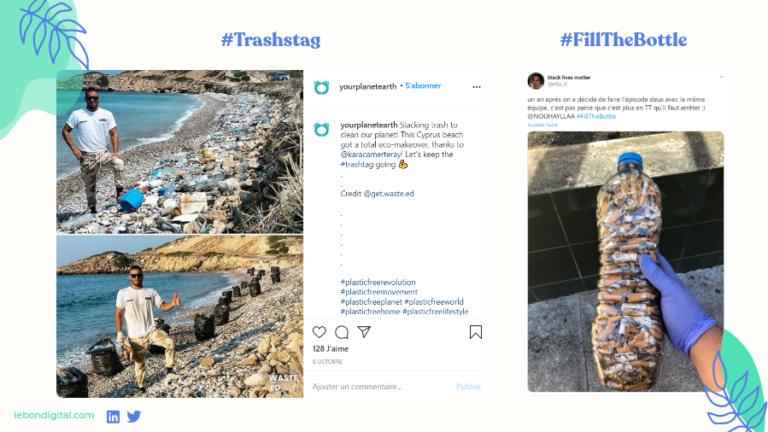 reseaux sociaux hashtags écologiques