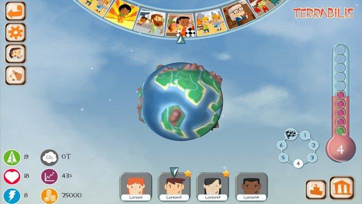 Ecran principal de Terrabilis, serious game