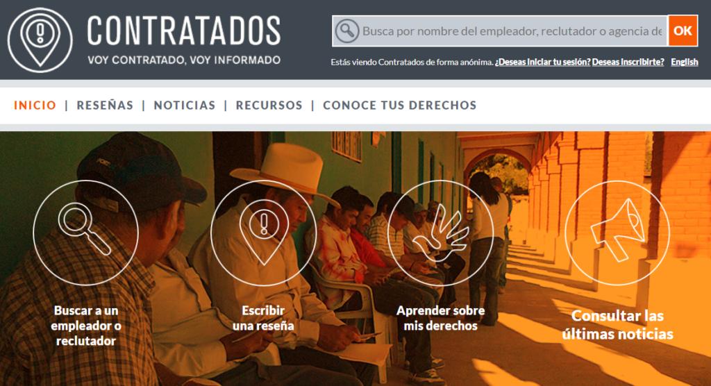 Site web Contratados - projet RAD